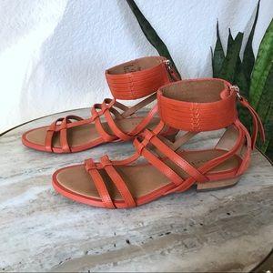 Coach Nillie Coral Orange Gladiator Sandal size 5